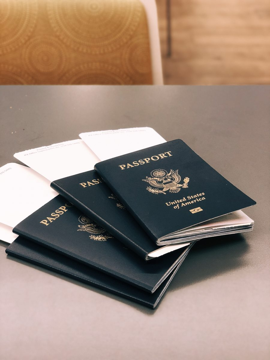 Passports stacked on each other